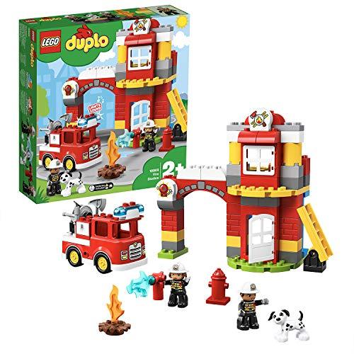 LEGO 10903 DUPLO Town Brandweerkazerne Speelgoed met Licht & Geluid, Brandweerauto en 2 Brandweermanfiguren voor…