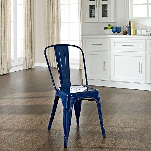 Crosley Amelia Metal Cafe Chair, Blue