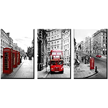 NAN Wind Modern Wall Art Painting Framed London Landscape Canvas Prints  London Street Scene Of Classic