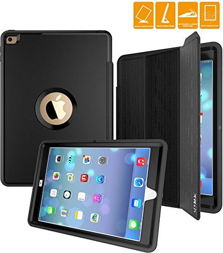 SEYMAC iPad Air 2 Case, Three Layer Drop Protection Rugged P