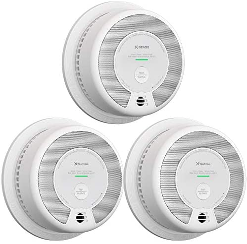 X-Sense 2-in-1 Smoke and Carbon Monoxide Detector Alarm (Not Hardwired), 10-Year Battery-Operated Dual Sensor Fire & CO Alarm, Compliant with UL 217 & UL 2034 Standards, SC06, Pack of three