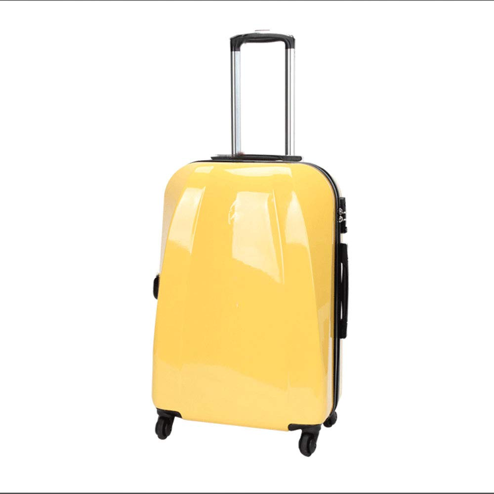 学生用トロリーユニバーサルホイール男性と女性スーツケース荷物ビジネス搭乗用パスワードボックス (Color : 黄, Size : 24 inches)   B07QVKT4SL