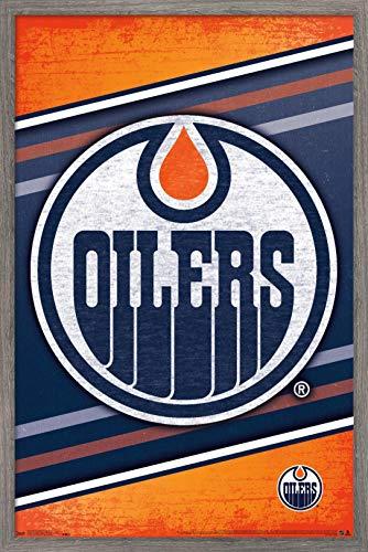 Trends International NHL Edmonton Oilers - Logo Wall Poster, 22.375
