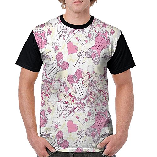 Puppylol Vintage Girls Room Floral Design With Sexy Corset accessories Men's Comfort Raglan Short Sleeve Baseball Tees 3X (Promo Codes For Cookies By Design)