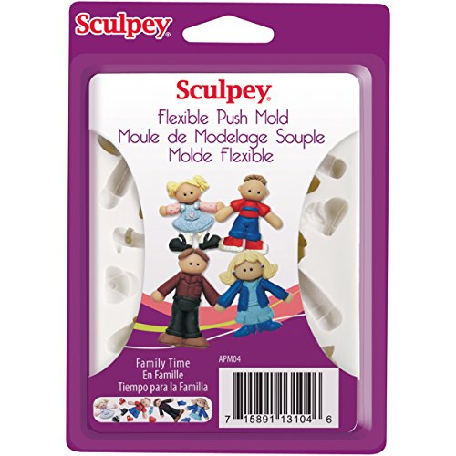 - Sculpey Flexible Push Clay Mold, Family Time