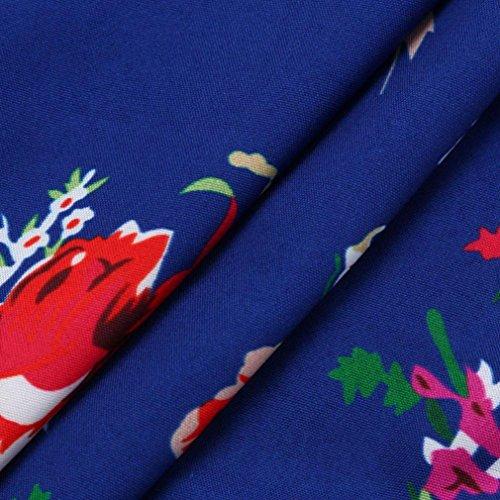 Azul Baño Lencería Kimono camisón Albornoz Batas Fiesta QinMM Mujer mujer Cama floral Satén Casa CqwtpOn