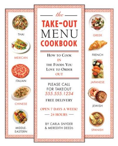 Take out Menu Cookbook Foods Order product image
