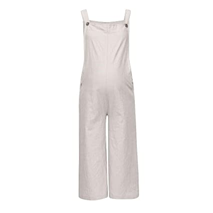 832db7033c8ef HANANei Women Maternity Rompers Pregnant Solid Color Bib Pants Comfort Prop  Belly Jumpsuit Overall Trousers (