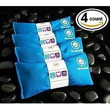 Happy Wraps® Yoga Lavender Eye Pillows - 4 Pieces - Turquoise Cotton