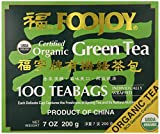 Cheap Foojoy Certified Organic Green Tea 100 Tea Bags 7 oz.