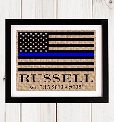Thin Blue Line Police Officer Gift, Blue Line Flag