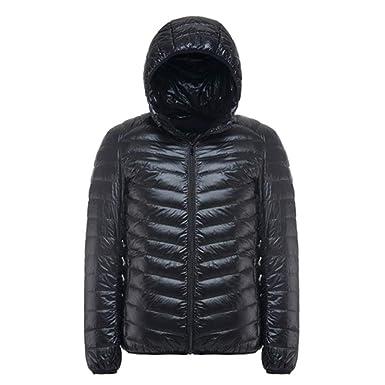 EQKWJ Duck Down Jacket Male Ultralight Hooded Coat Mens Down Coats Outwear