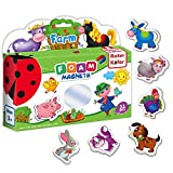 Roter Kafer Fridge magnets for kids FARM animals - 31 FOAM magnets for toddlers- Farm animal toys- 2 year old boys toys- 2 year old girl toys- Toddler toys