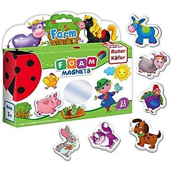 Amazon.com: Refrigerator Magnets for Kids FARM Animals 31