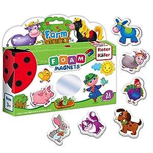 Roter Kafer- Imanes nevera para niños Animales de Granja 31 piezas ...