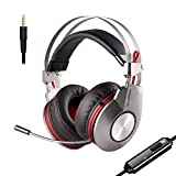 XIBERIA PS4 Gaming Headset for Xbox One Headphones Wired Over Ear Surround Sound with Microphone Switch Stereo Bass Volume Control Noise Isolating for Laptop, Mac, Computer, Tablet (K5D - 3.5mm)