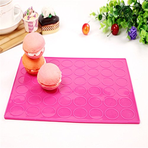 1 Pcs Bouble Sides Silicone Macaron Mat Mold Both Sides Use 48 Holes Round Diy Macarons Pad Cake Moulds Random Color Baking Tool^.