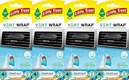 Little Trees Vent Wrap Air Freshener, Bayside Breeze, 4 Packs of 4