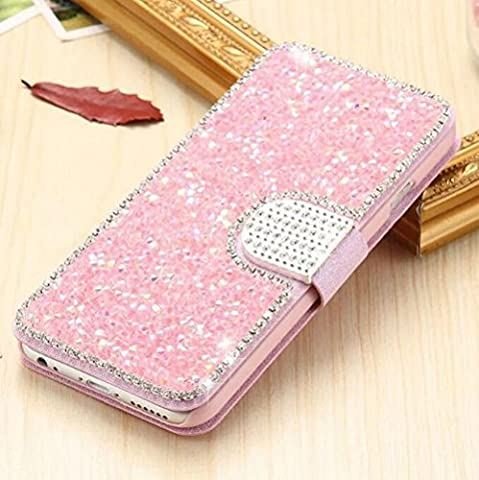 Iphone 5/5s Wallet Shell,Jesiya Luxury Bling Crystal Lagging Diamond Wallet Flip Cover Wallet Case for Iphone (Flip Cover Iphone 5 Bling)