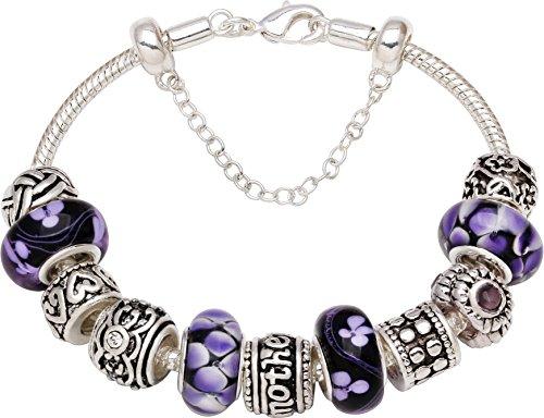 Mother Forever Bead Charm Bracelet