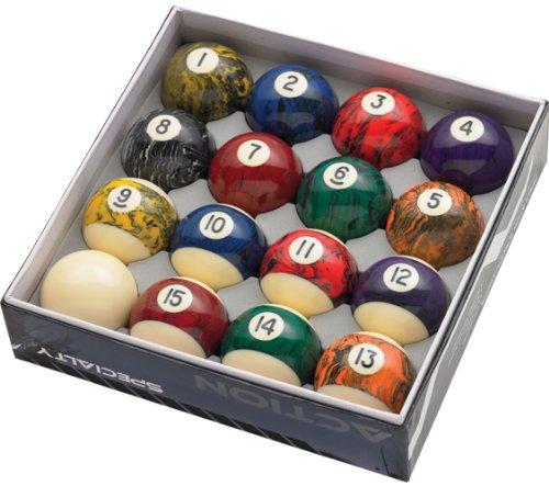 Action Black Marble Balls