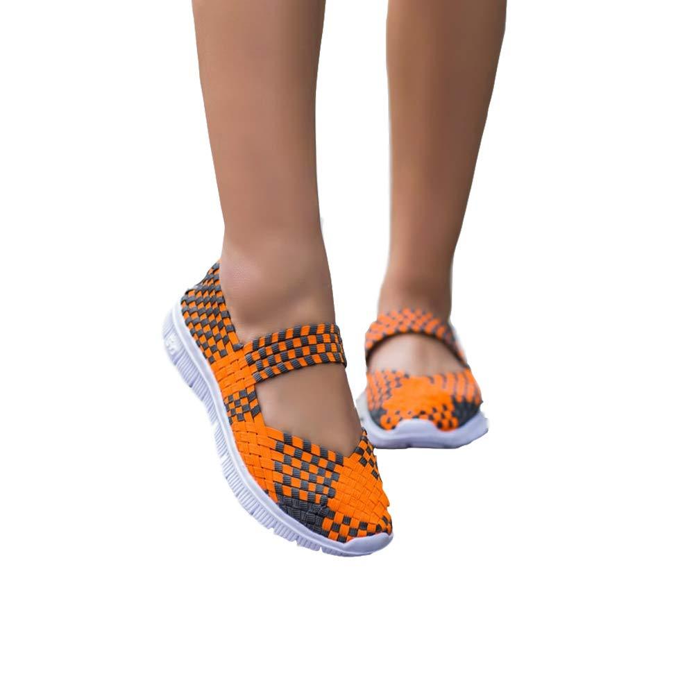 DoGeek Schuhe Damen Gewebte Schuhe Handgemachte Geflochten Leichte Sandalen Damen Elastisch Wanderschuhe Sommerschuhe Damen