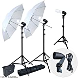 LINCO Lincostore 600W Photography Photo Video Portrait Studio Day Light Umbrella Continuous Lighting Kit AM153