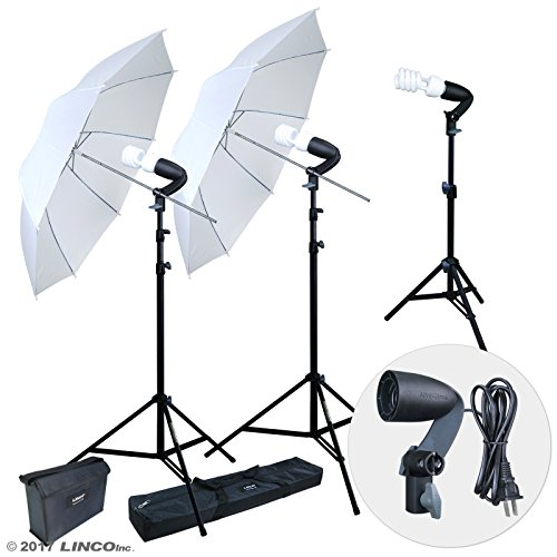 LINCO Lincostore 600W Photography Photo Video Portrait Studio Day Light Umbrella Continuous Lighting Kit AM153 by Linco