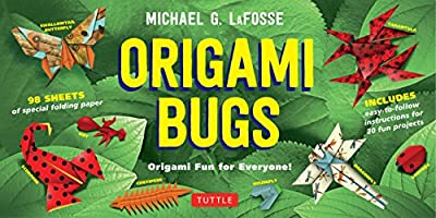 Origami Bugs Kit: Origami Fun for Everyone! [Origami Kit with 2 Books, 98 Papers, 20 Projects]