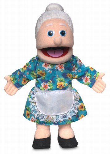 ''Granny'', 14In Glove Puppet, Peach -Affordable Gift for your Little One! Item #DSPU-SP3201 by Silly Puppets ''Granny''