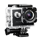 #7: Pictek Action Camera, Waterproof WIFI Sports Video Camera 12MP 2.0-Inch 1080P FHD Action Video Camera with 2 Batteries and Accessories, Black