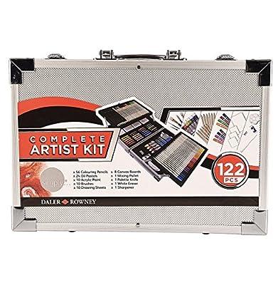 Daler Rowney Complete Artist Kit 122 pcs w/metal carrying case