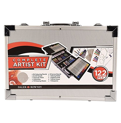 Daler Rowney Complete Artist Kit 122 pcs w/metal carrying case by Daler Rowney