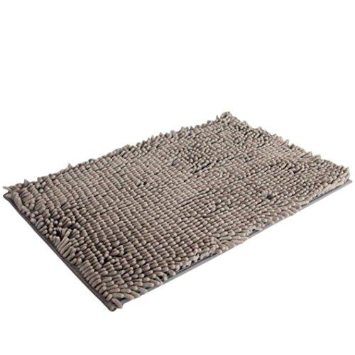 Tuscom Soft Shaggy Non Slip Absorbent Bath Mat Bathroom Shower Rugs Carpet (15.8X24