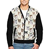 Best  - Roajgas Mens Cat Selfies Zip Open Front Jacket Review