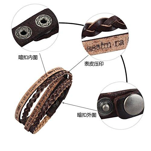MULBA femmes Bracelet cuir multicouche Weave Wrap Bracelet