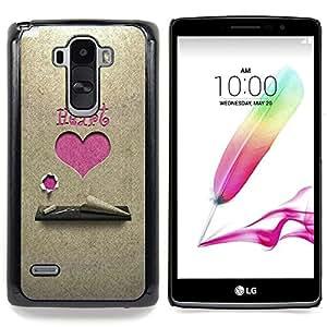 """For LG G4 Stylus H631 MS631 H635 H540 H630D H542 , S-type Corazón rosado"""" - Arte & diseño plástico duro Fundas Cover Cubre Hard Case Cover"""