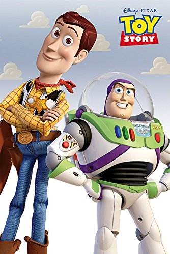 Toy Story - Disney / Pixar Movie Poster / Print (Buzz Lightyear & Woody) (Size: 24