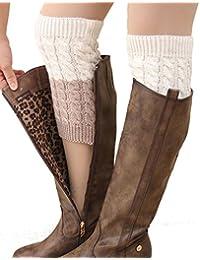 Women's Short Leg Warmer Crochet Boot Cover