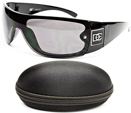 Logo Metal Aviator Shield Sunglasses (D50-cc Designer Eyewear Semi Rimless Shield Sunglasses (24 Black, gradient))
