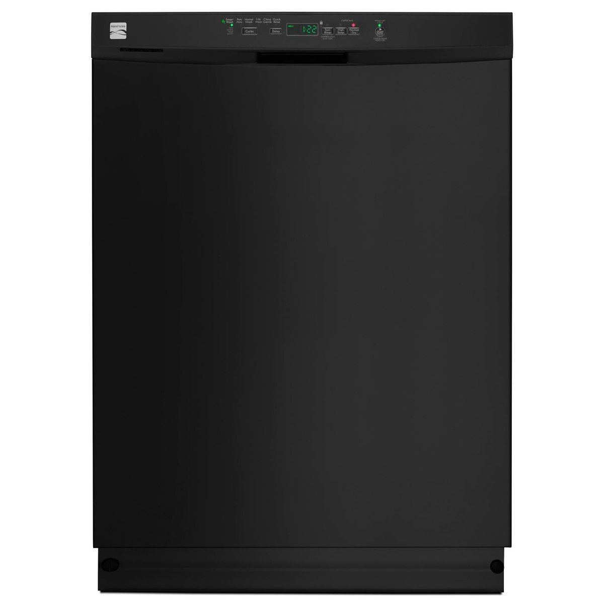Kenmore 13099 Dishwasher with Power Wave Spray Arm/Nylon Racks, Black