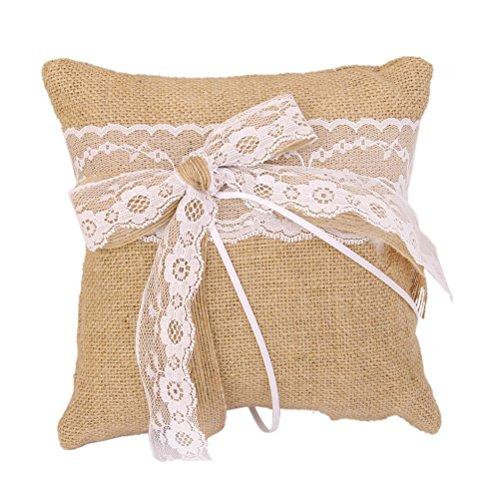 ULTNICE Hessian Burlap Wedding Cushion product image
