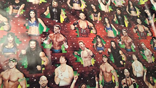 Christmas Wrapping WWF Wrestling Holiday Paper Gift Greetings John Cena 1 Roll Design Festive WWE