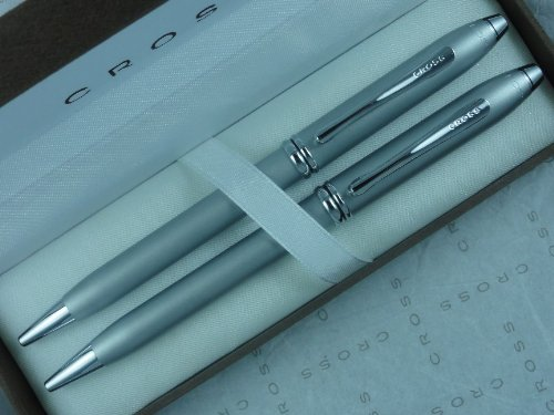 AT Cross Townsend Matte Pearlescent Satin Pen and Pencil Set