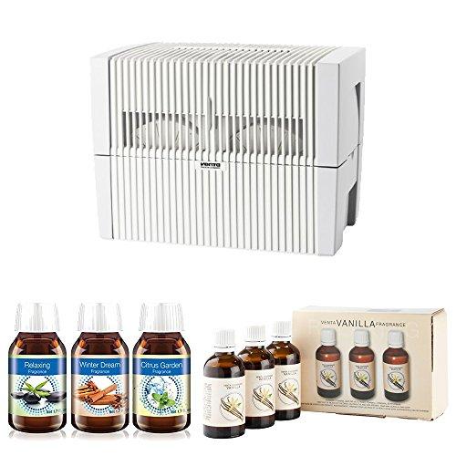 Venta LW45W Humidifier & Airwasher (White) w/ Venta Airwasher 6 PACK Fragrances by Venta
