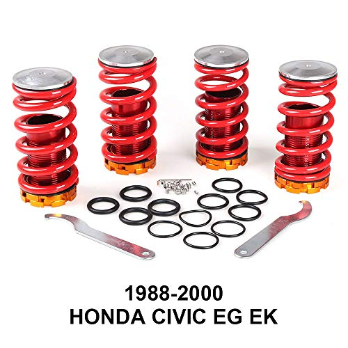 Dyno Racing Aluminum Coilover Springs Kit for Honda Civic 88-00 Red available Coilover Suspension Coilover Springs BX101547