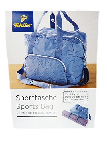 40fb400cceb150 TCM Tchibo Sporttasche blau Tasche mit Halterung für zBsp Yogamatte ...