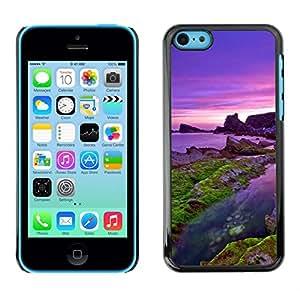 // PHONE CASE GIFT // Duro Estuche protector PC Cáscara Plástico Carcasa Funda Hard Protective Case for iPhone 5C / Mar púrpura /