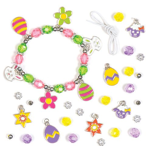 Baker Ross Easter Charm Bracelet Kits with Chick, Bunny, Lam