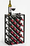 Mango Steam 23 Bottle Wine Rack with Glass Table Top, Black Review